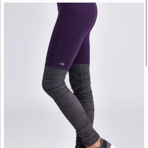 Alo Goddess Ribbed leggings purple & grey